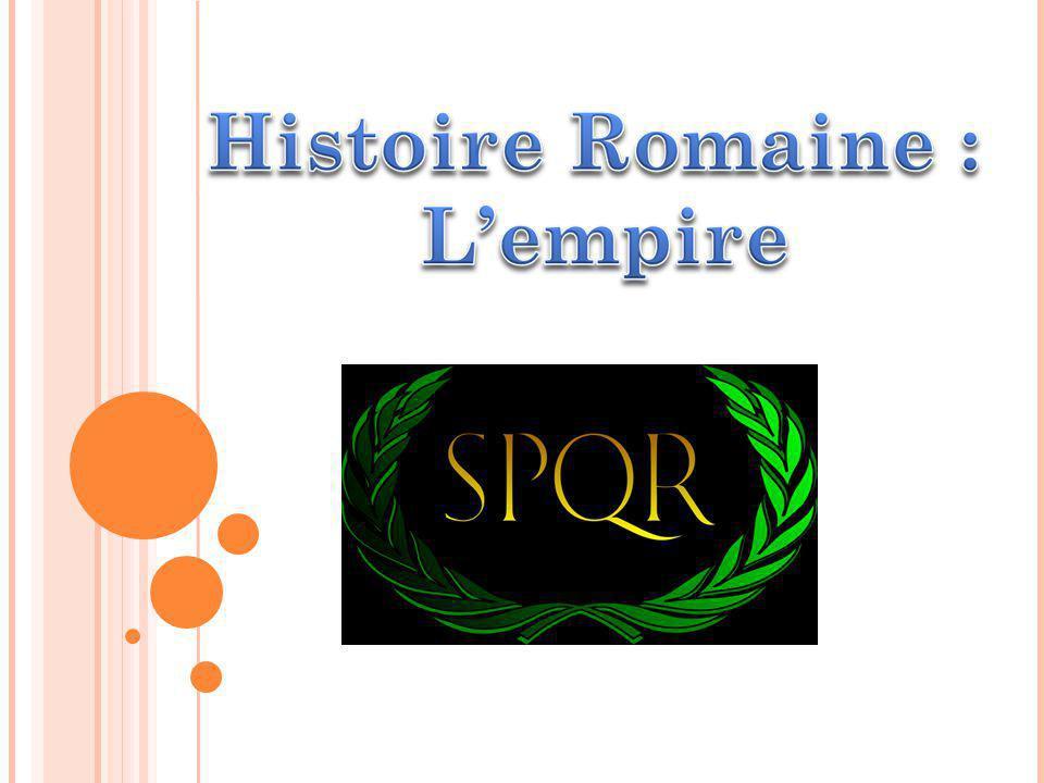 SOMMAIRE 1: histoire de lempire romain 2: la dynastie Julio Claudienne 3: les empereurs ( Auguste, Tibère, Caligula, Claude, Néron ) 4: la chute de lEmpire 5: sitographie / bibliographie