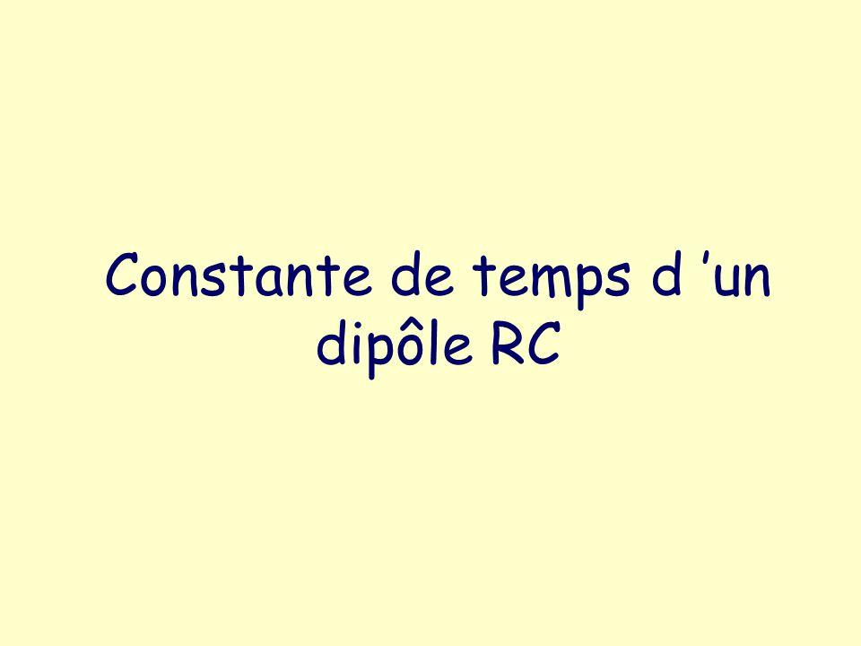 Constante de temps d un dipôle RC
