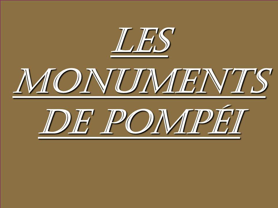 Les monuments de Pompéi