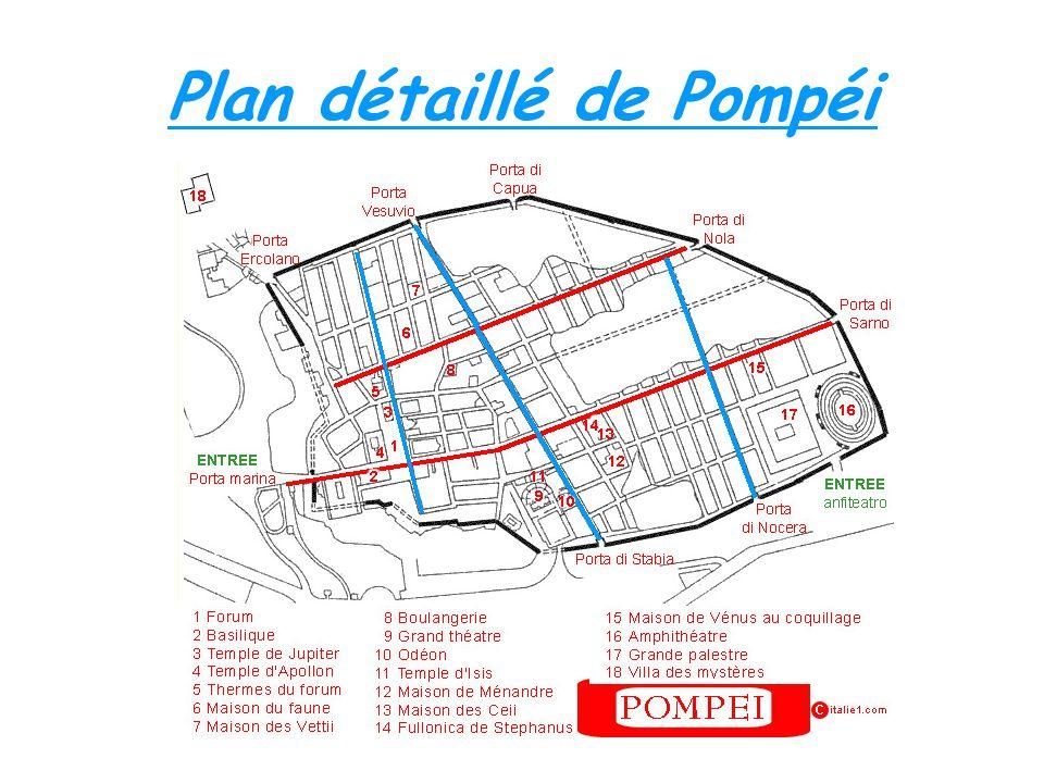 Plan détaillé de Pompéi