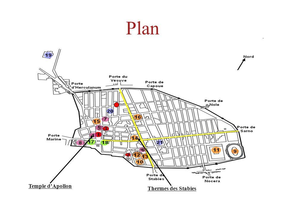 Plan Temple dApollon Thermes des Stabies