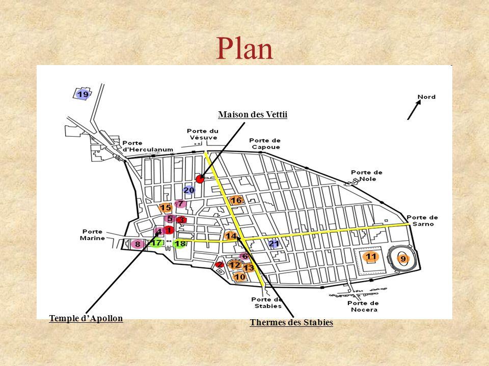 Plan Temple dApollon Thermes des Stabies Maison des Vettii