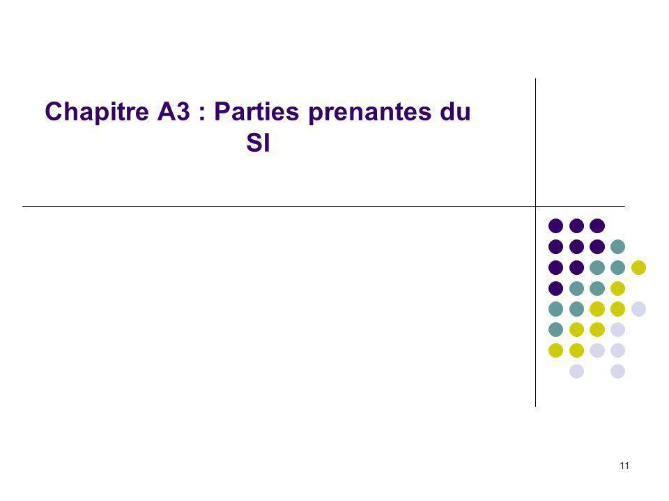 11 Chapitre A3 : Parties prenantes du SI