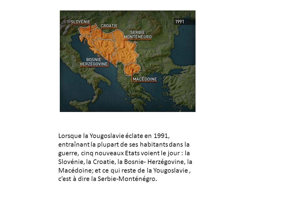 Lorsque la Yougoslavie éclate en 1991, entraînant la plupart de ses habitants dans la guerre, cinq nouveaux Etats voient le jour : la Slovénie, la Cro