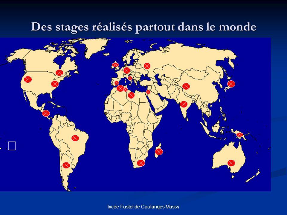 lycée Fustel de Coulanges Massy Des stages réalisés partout dans le monde