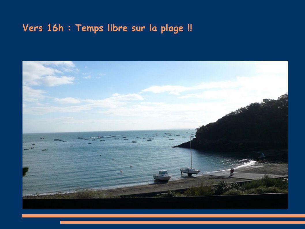 Vers 16h : Temps libre sur la plage !!
