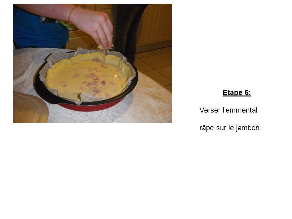 Etape 5: Verser le tout sur le jambon.