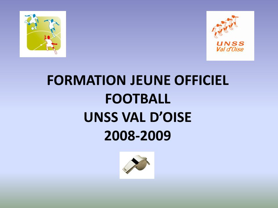 FORMATION JEUNE OFFICIEL FOOTBALL UNSS VAL DOISE 2008-2009
