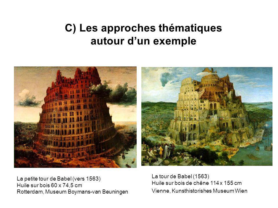 C) Les approches thématiques autour dun exemple La petite tour de Babel (vers 1563) Huile sur bois 60 x 74,5 cm Rotterdam, Museum Boymans-van Beuninge