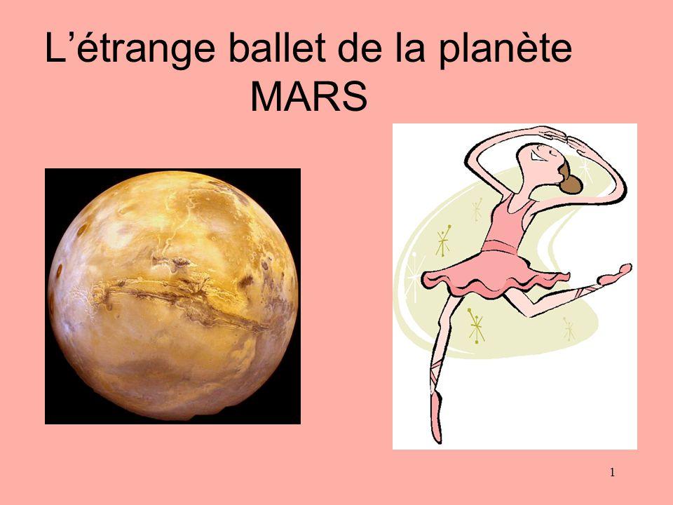 Létrange ballet de la planète MARS 1