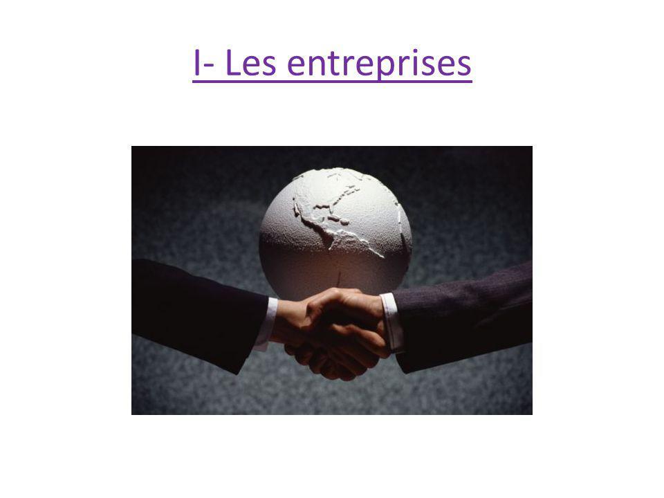 I- Les entreprises