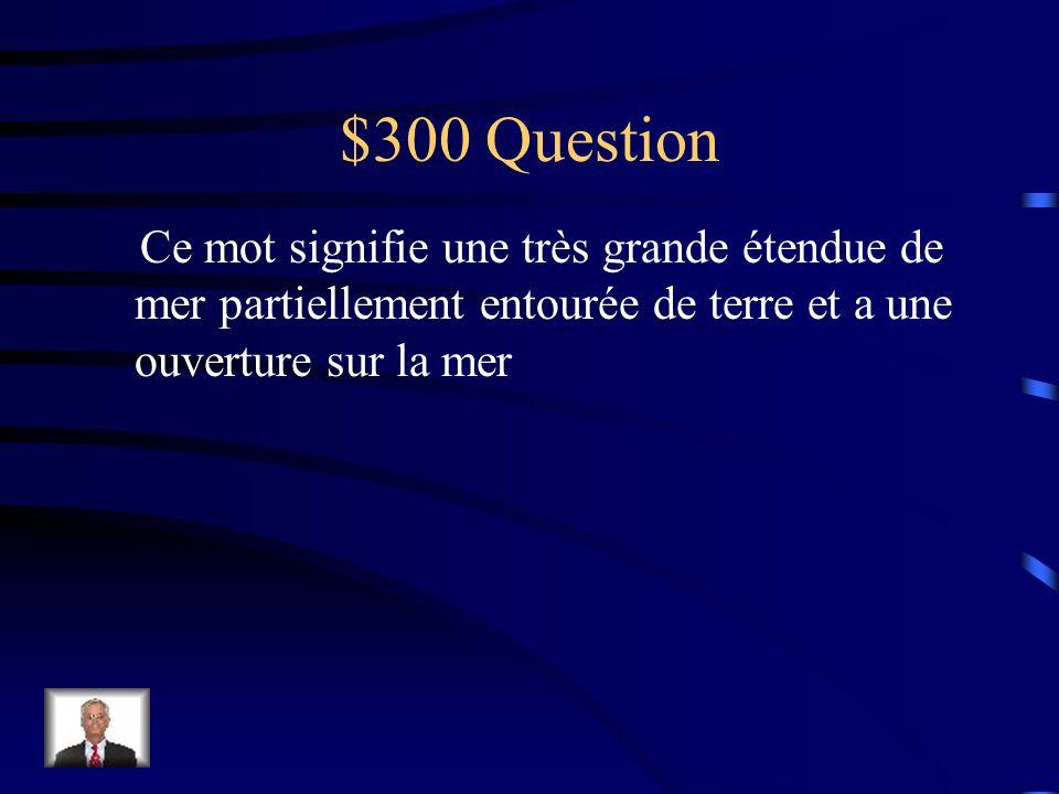 $200 réponse Un lac