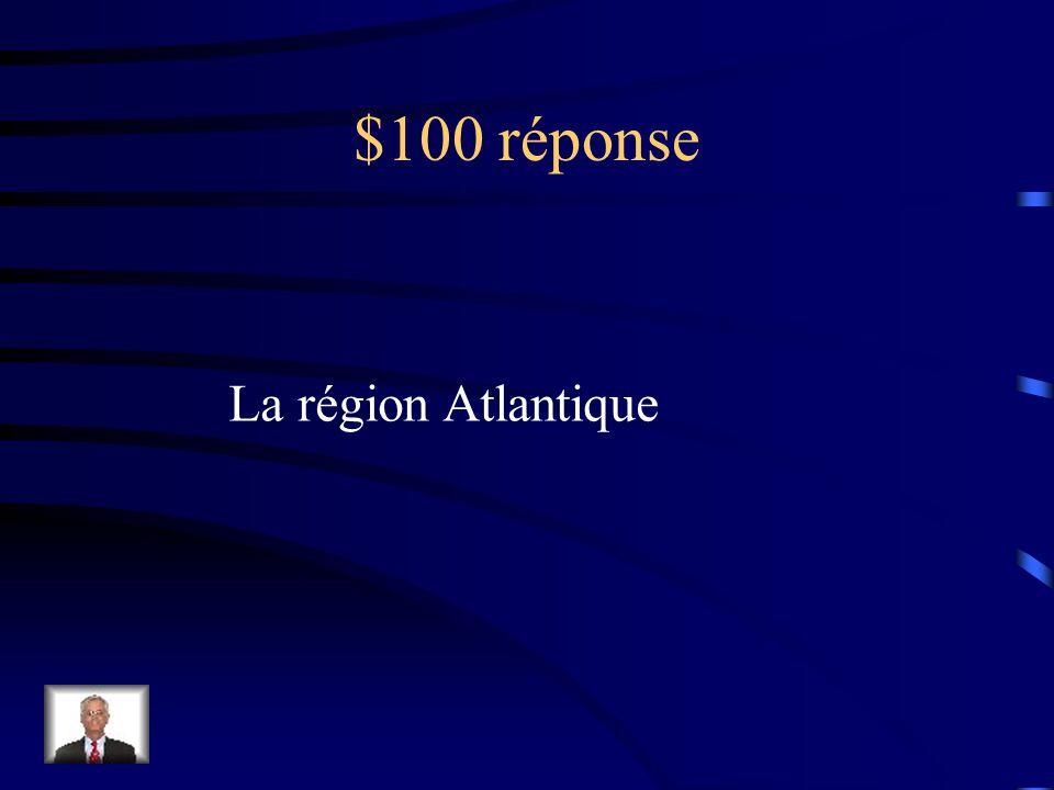$100 réponse Une carte topographique