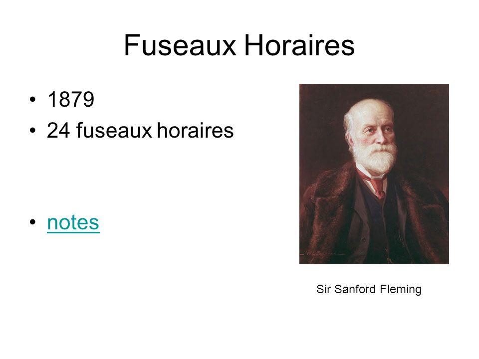Fuseaux Horaires 1879 24 fuseaux horaires notes Sir Sanford Fleming