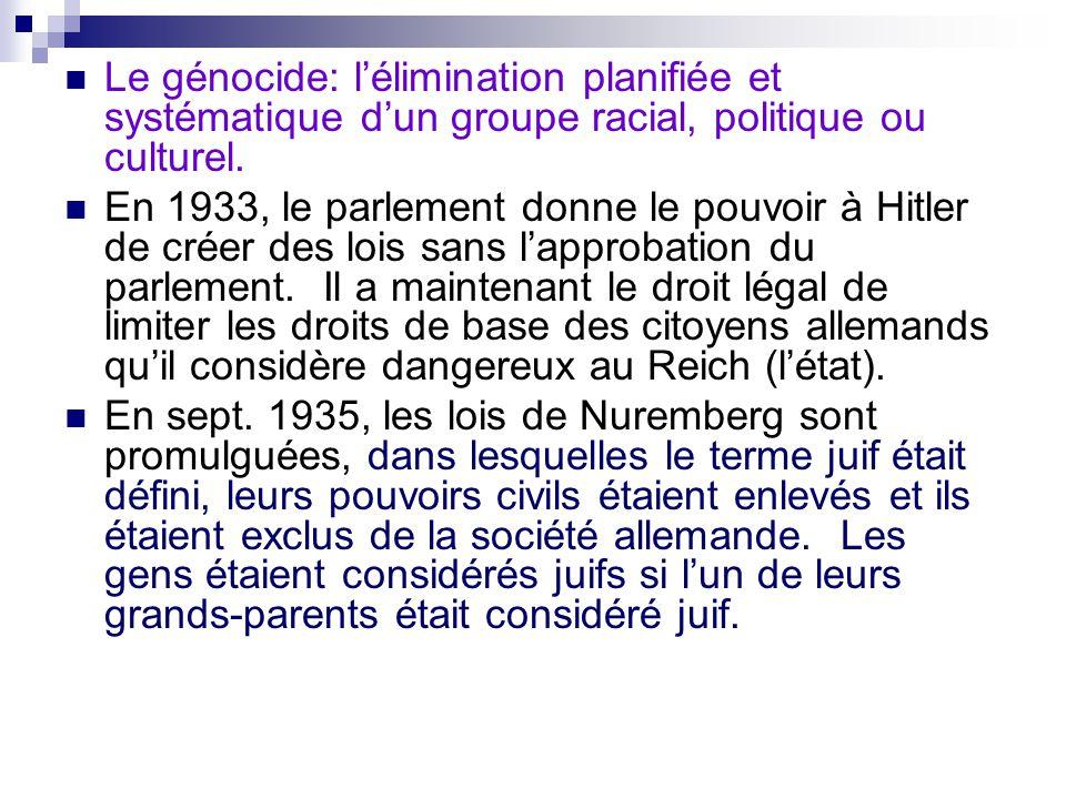 Conséquences des lois de Nuremberg 1.