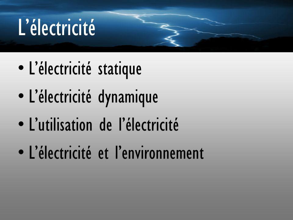 Lélectricité statique Lélectricité statique est un phénomène commun Des fois lélectricité statique nous dérange.
