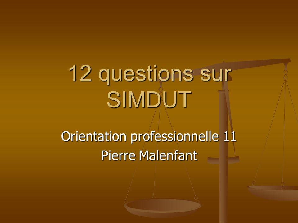 12 questions sur SIMDUT Orientation professionnelle 11 Pierre Malenfant