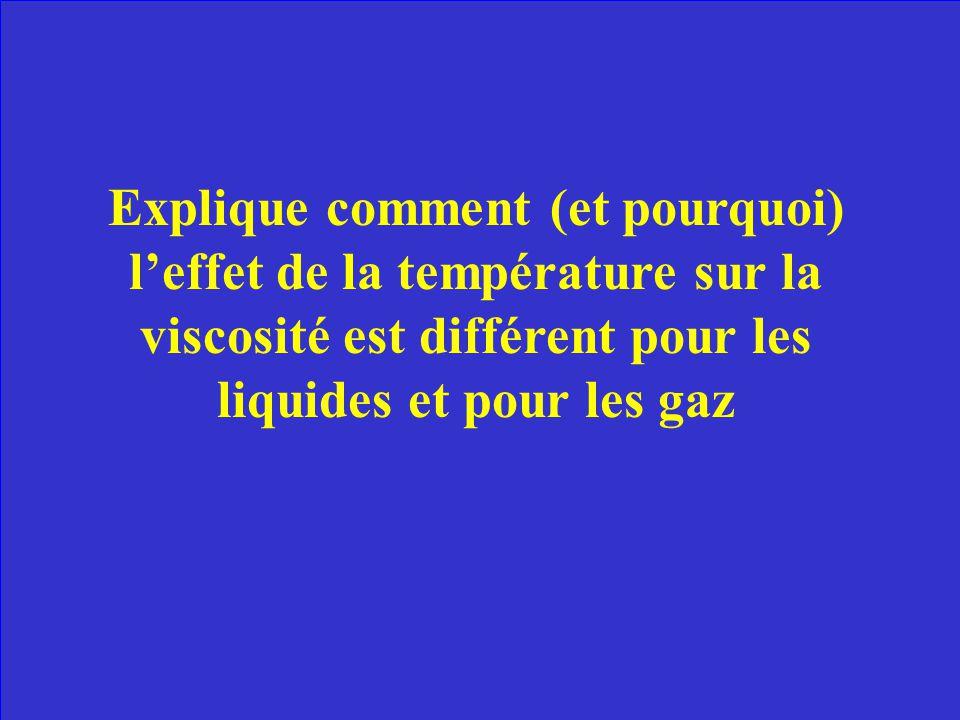 Facteur # 1 – La température Quand on chauffe un liquide, les particules gagnent de lénergie et bougent plus vite. Elles prennent de lespace et la vis