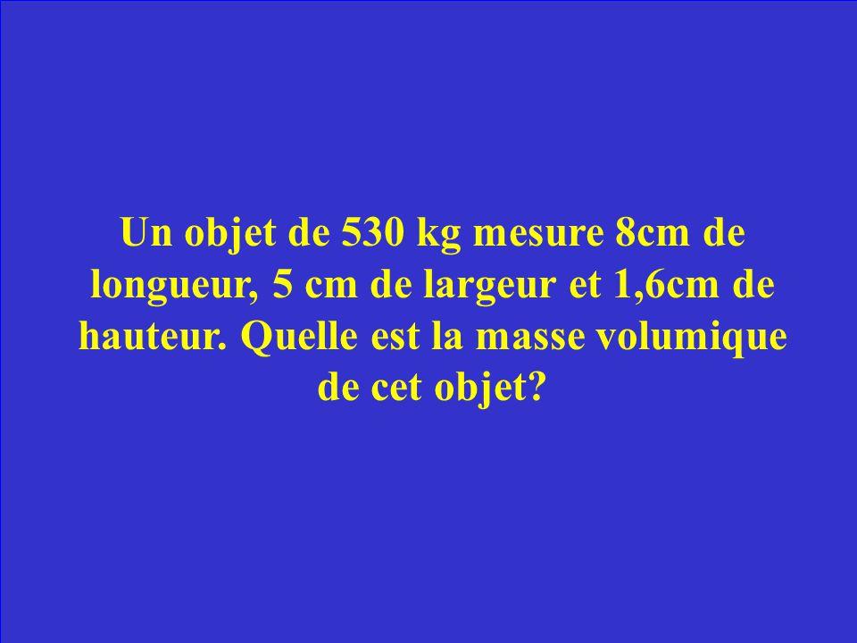 La masse est la quantité de matière totale dans une substance. Elle est exprimé en livres, grammes, kilogrammes, etc. Le poids est leffet de la force