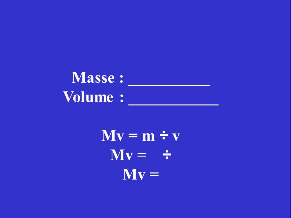 En utilisant les instruments à ta disposition, trouve la masse volumique de cette substance inconnue