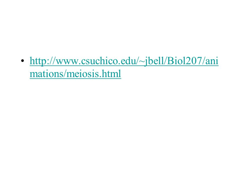http://www.csuchico.edu/~jbell/Biol207/ani mations/meiosis.htmlhttp://www.csuchico.edu/~jbell/Biol207/ani mations/meiosis.html