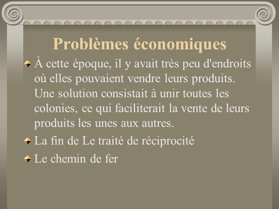 Problèmes économiques À cette époque, il y avait très peu d'endroits où elles pouvaient vendre leurs produits. Une solution consistait à unir toutes l