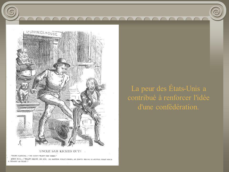En route vers la Confédération Les dirigeants du Nouveau-Brunswick, de la Nouvelle-Écosse et de l Île-du-Prince-Édouard avaient déjà pensé à former une union maritime et étaient en train de préparer une conférence.