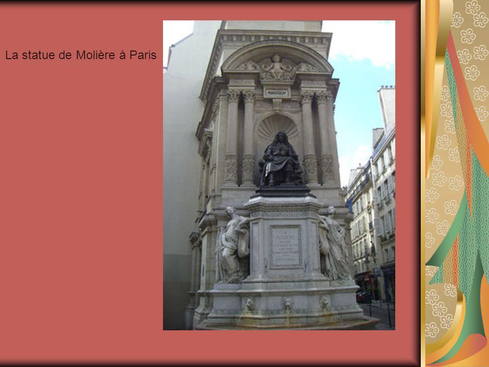 La statue de Molière à Paris
