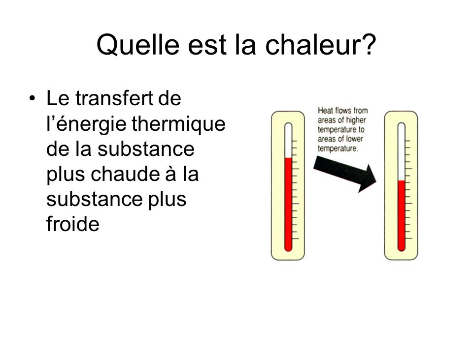 Lénergie thermique et le temps SOLEIL: La source suprême d énergie thermique sur Terre et dans l atmosphère Quand l énergie thermique est transférée dans latmosphère, il y a des changements du temps!