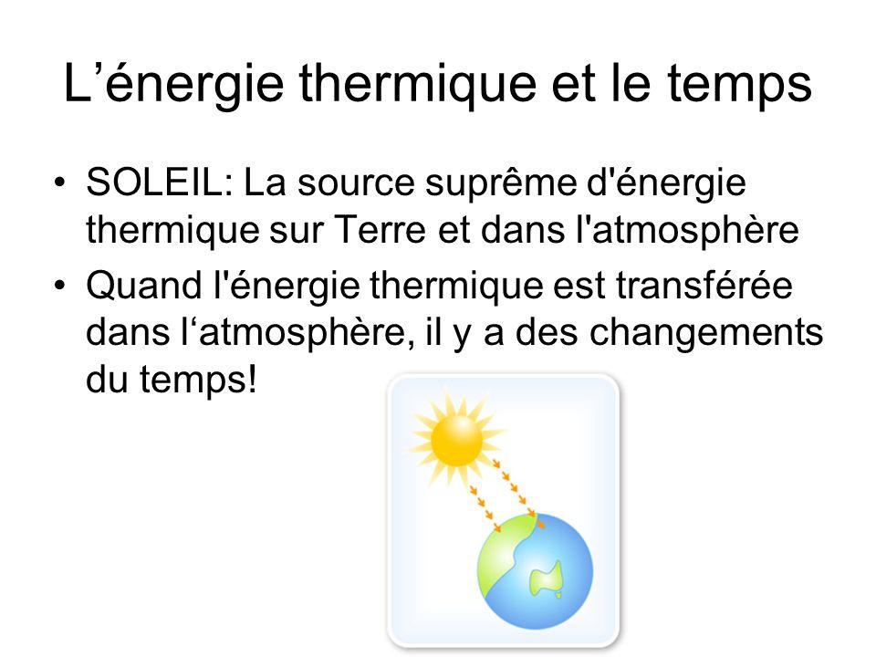 Comment l énergie thermique est- elle transférée ? 1.Conduction 2.Convection 3.Rayonnement