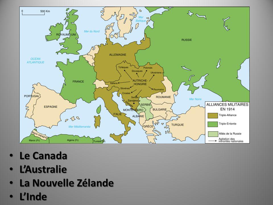 Le Canada Le Canada LAustralie LAustralie La Nouvelle Zélande La Nouvelle Zélande LInde LInde