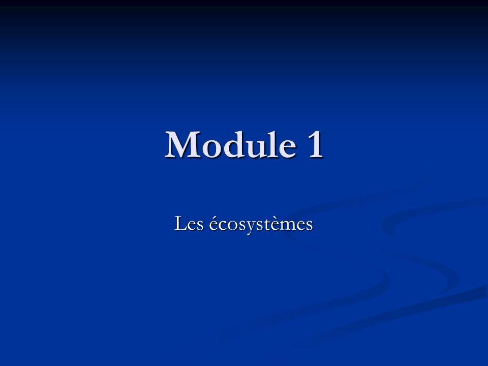 Module 1 Les écosystèmes