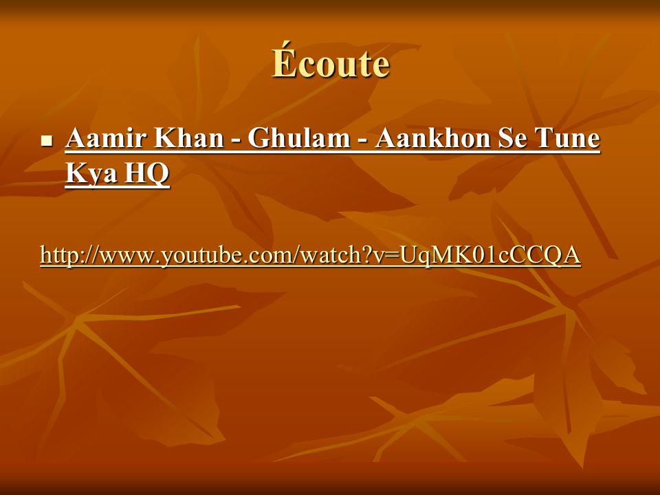 Écoute Aamir Khan - Ghulam - Aankhon Se Tune Kya HQ Aamir Khan - Ghulam - Aankhon Se Tune Kya HQ http://www.youtube.com/watch?v=UqMK01cCCQA