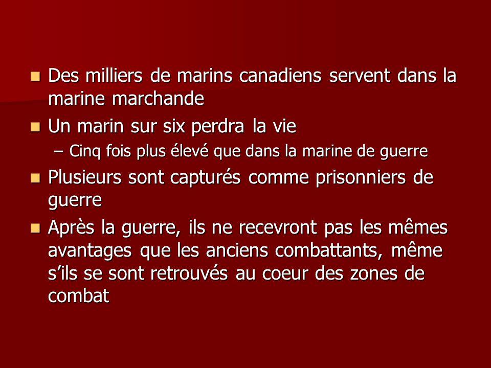 Des milliers de marins canadiens servent dans la marine marchande Des milliers de marins canadiens servent dans la marine marchande Un marin sur six p