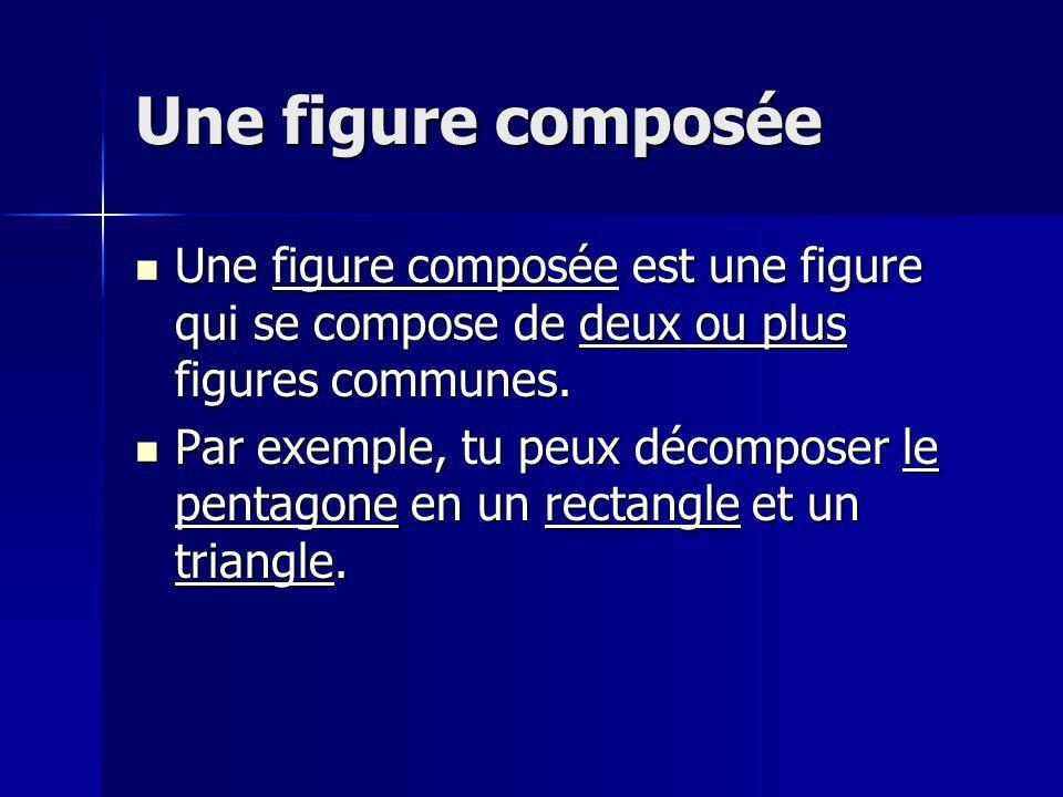 Une figure composée Une figure composée est une figure qui se compose de deux ou plus figures communes.
