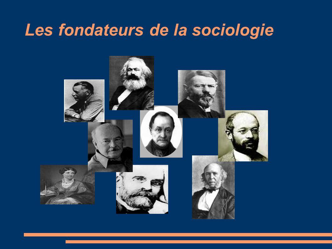Les fondateurs de la sociologie