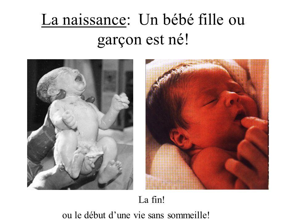 La naissance: Un bébé fille ou garçon est né! La fin! ou le début dune vie sans sommeille!