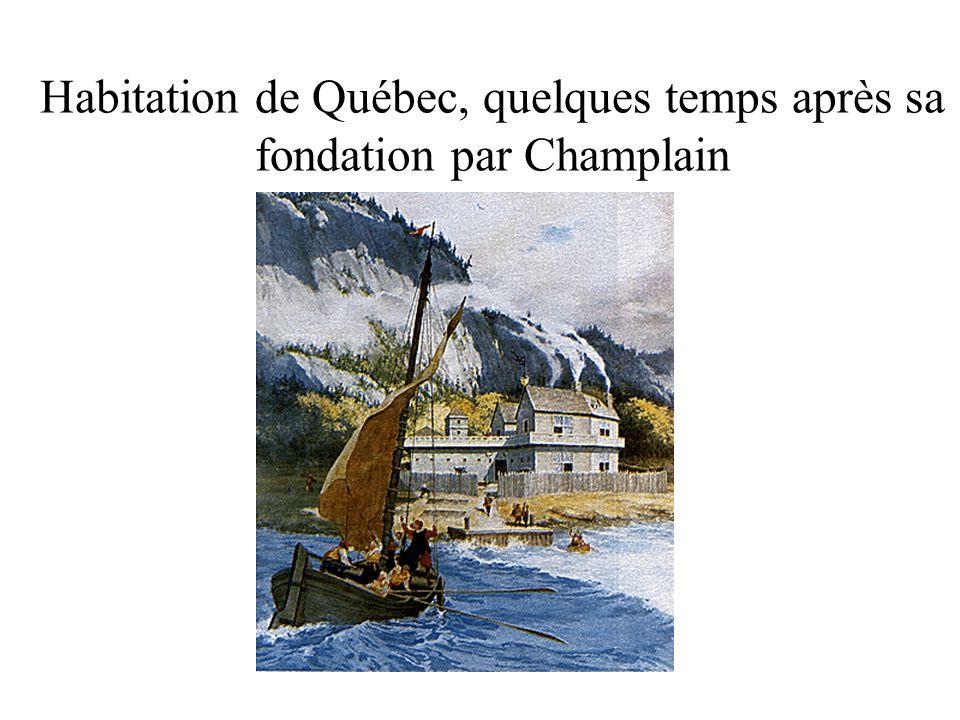 Habitation de Québec, quelques temps après sa fondation par Champlain