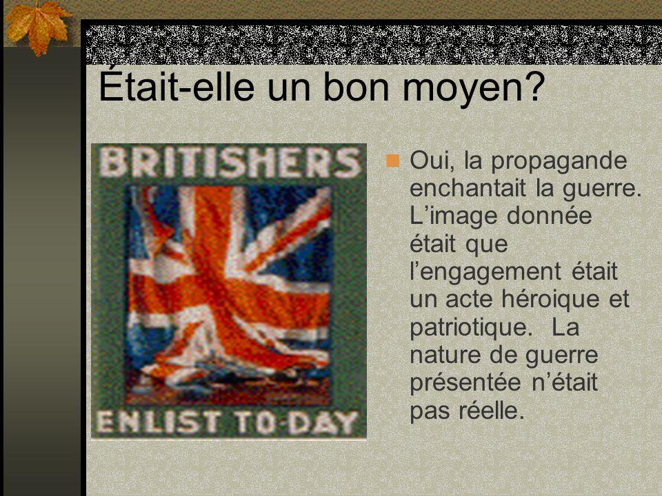 Les images de la propagande La propagande utilisait des images crudes et stéréotipiques.