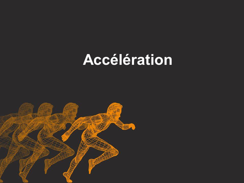 L accélération est une quantité vectorielle.Quand la vitesse d un objet change, il accélère.