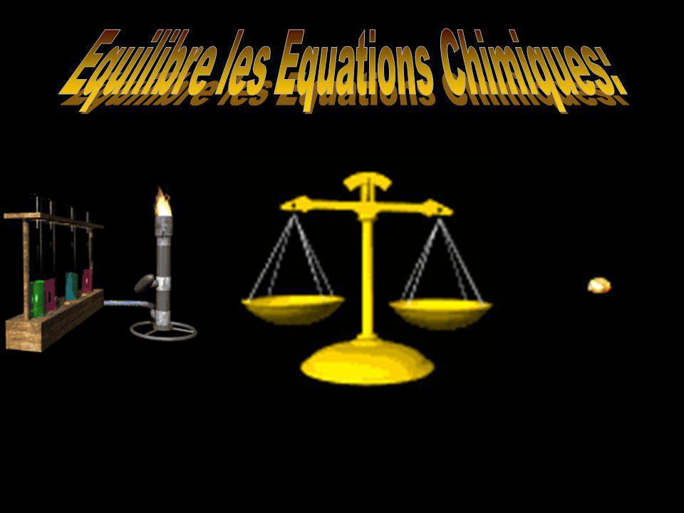 Les Règles pour Rendre Ceci Plus Facile Règles générales pour équilibrer les équations: Commencent avec lélément qui se trouve seulement une fois à chaque côté.