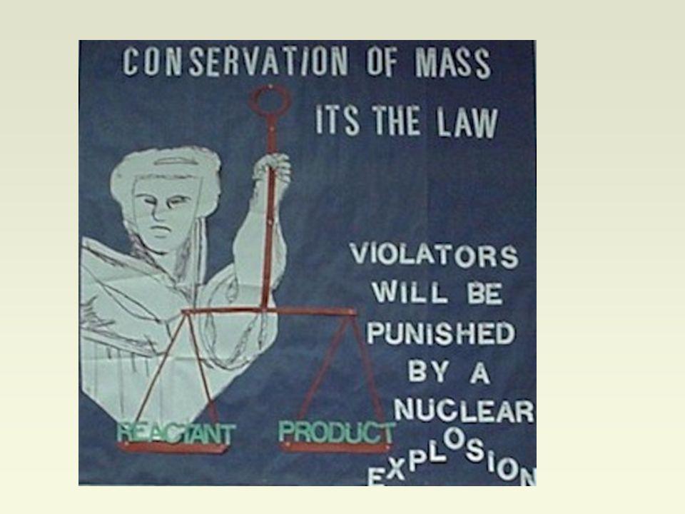 Équilibre des Équations: MgO La loi de conservation de la masse dit que la masse totale des réactifs est toujours égale à la masse totale des produits