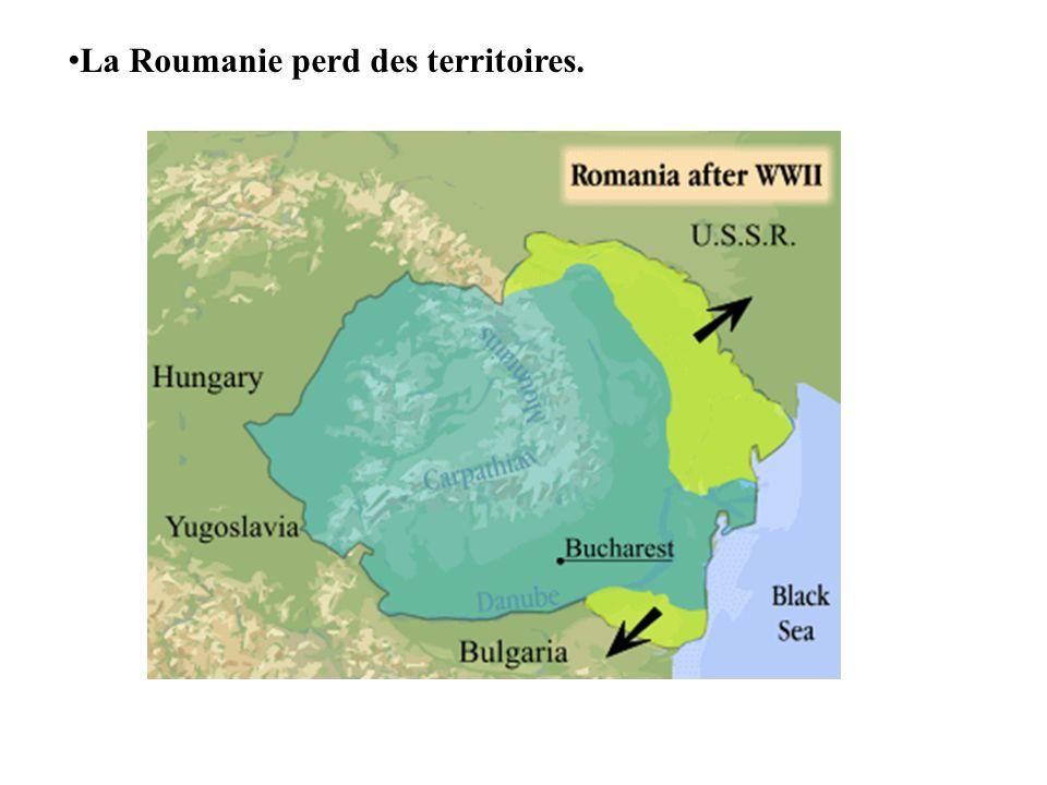 La Roumanie perd des territoires.