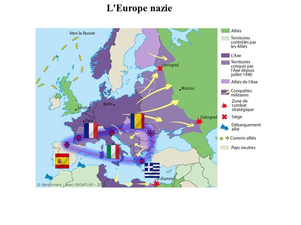 1/ L Europe est ruinée et dévastée : ne peut plus jouer le rôle de puissance dominante dans les empires coloniaux, les prémices de la décolonisation se manifestent 2/ Leffacement de l Europe est accentué par la rivalité entre les États-Unis et l URSS entre libéralisme et communisme cette rivalité déchire l Europe A/ Le déclin consommé de l Europe séparation en deux camps très distincts.