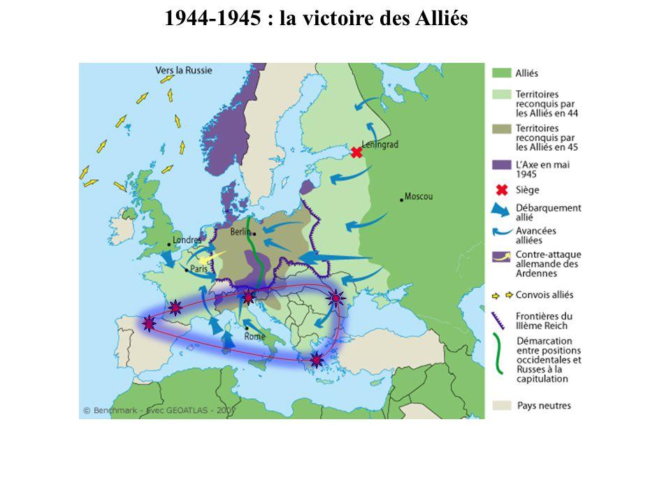 1944-1945 : la victoire des Alliés