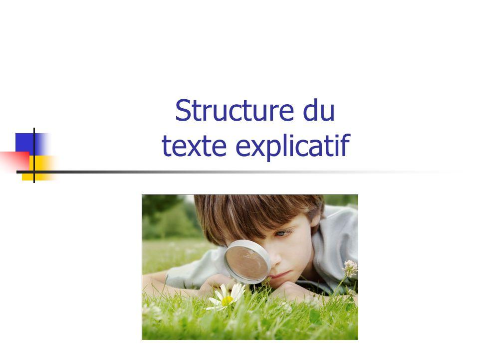 Structure du texte explicatif