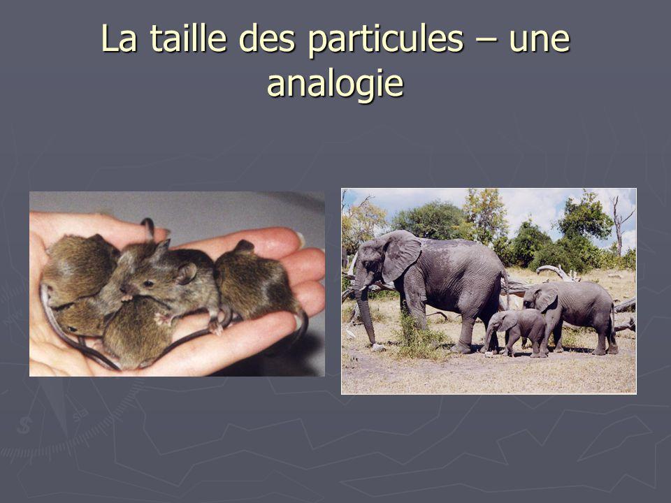 La taille des particules – une analogie