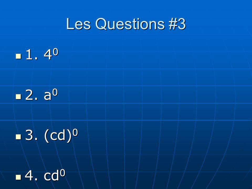 Les Réponses #3 1. 1 1. 1 2. 1 2. 1 3. 1 3. 1 4. c 4. c