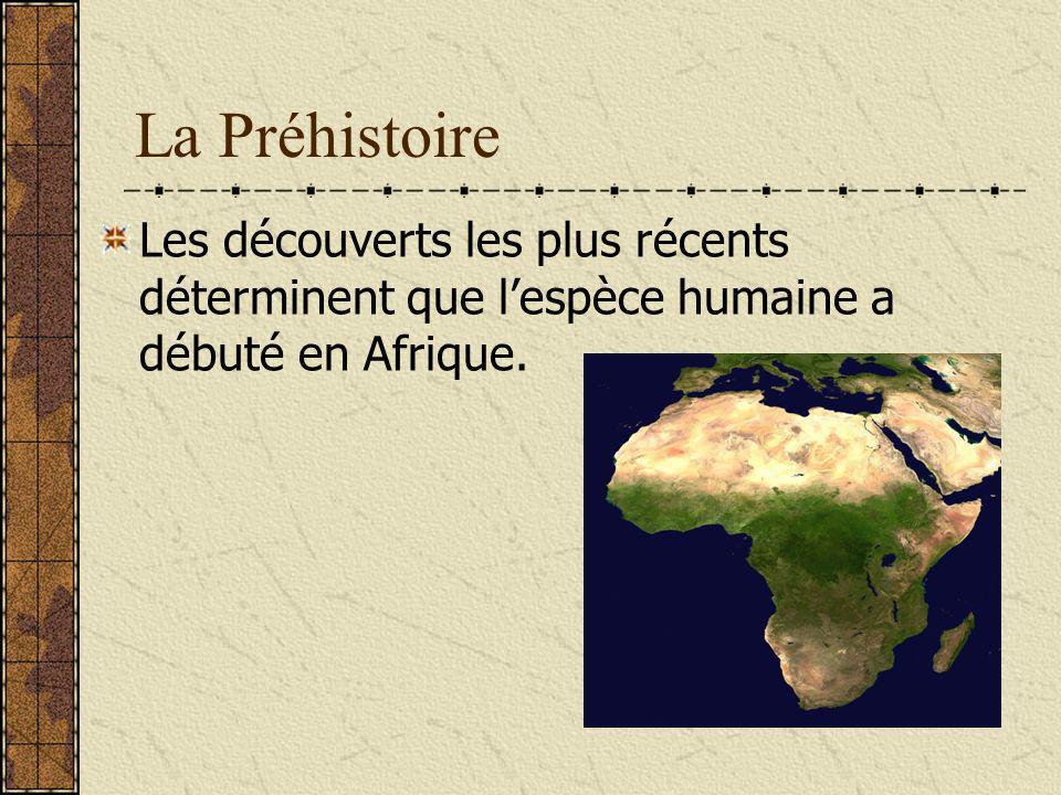 La Préhistoire… se caractérise par les particularités des différents types dêtres humains qui se sont succédé, chacun représentant une étape dans lévolution vers lhomme moderne.