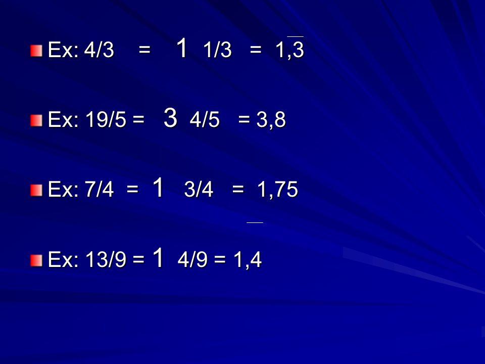 Une autre façon… Une autre façon de changer un fraction à un nombre décimal est de diviser le numérateur par le dénominateur: Ex: 2/5 = 2 divisé par 5 0, 4 0, 4 5 )2,0000 2/5 = 0,4